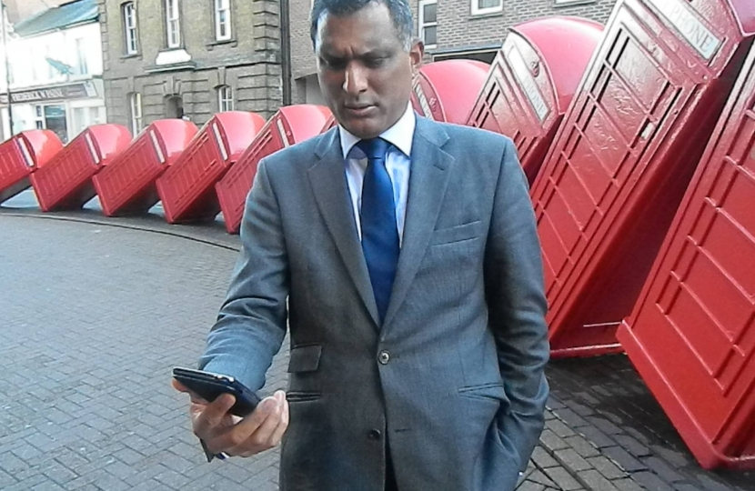 Syed with mobile phone